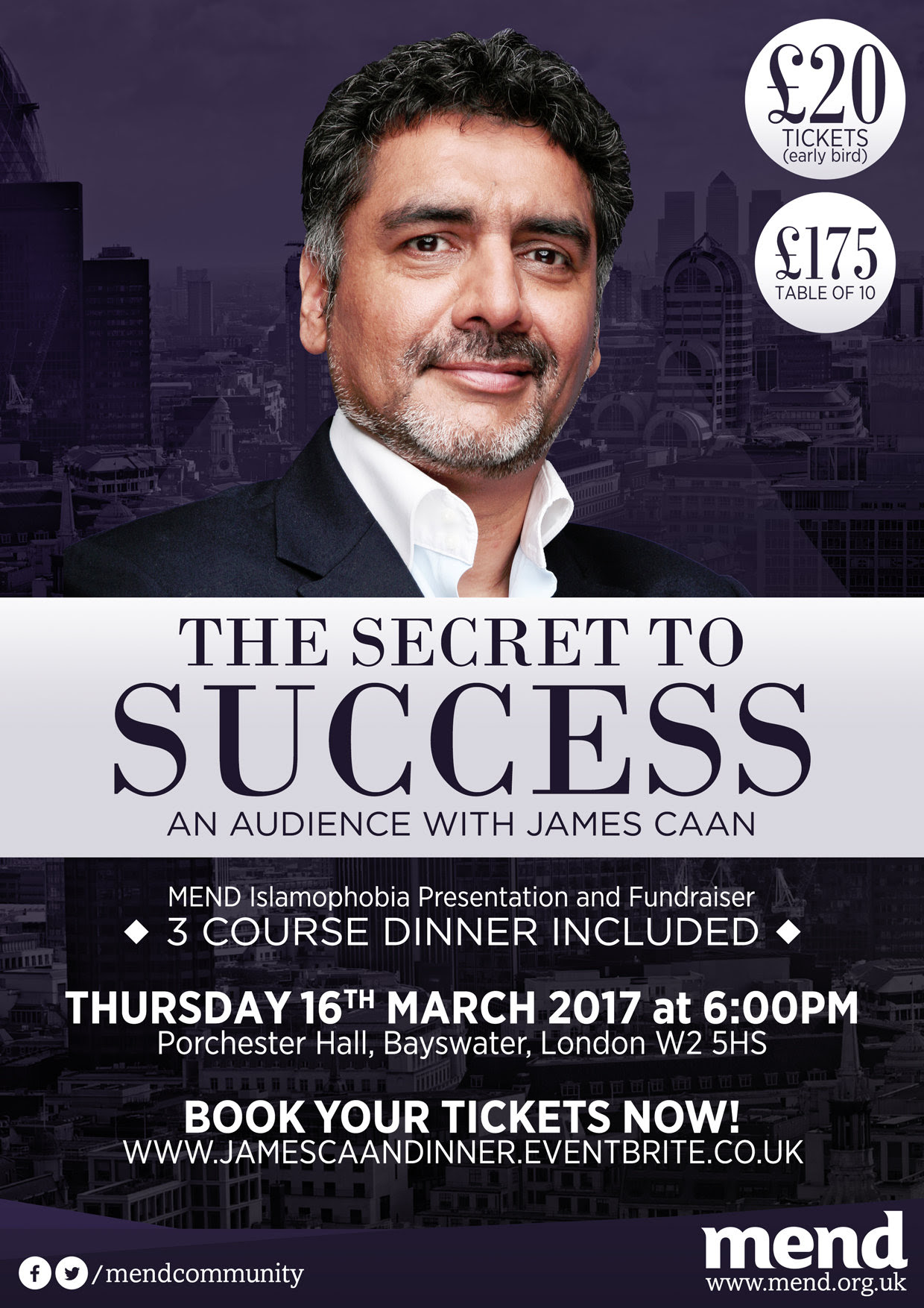 The Secret to Success: an Evening with James Caan (Mend)
